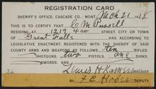 Gun Registration Card