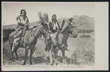 Postcard of Two Men on Horseback