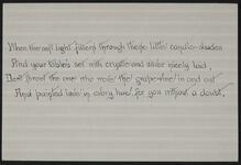 Handwritten Poem