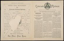 Miniature newsletter of the Colorado Midland No. 1 Vol. 1