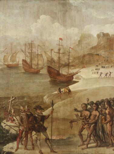 Columbus on First Landing in India is Received by the Inhabitants with Many Presents (01.2029)