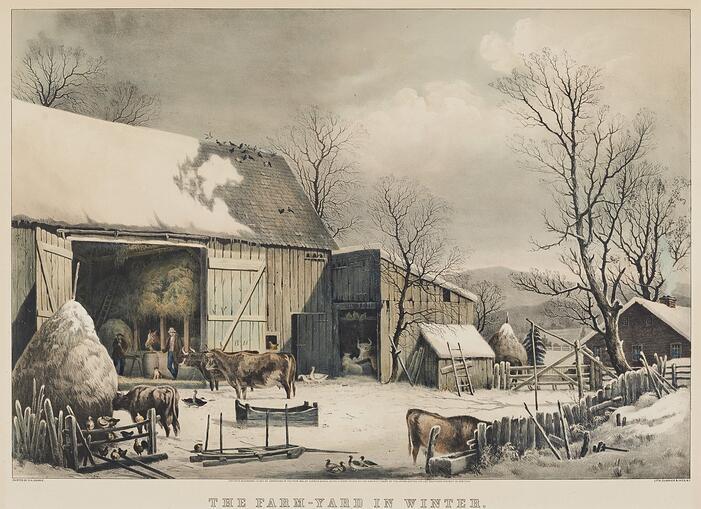 The Farm Yard in Winter (1526.549)